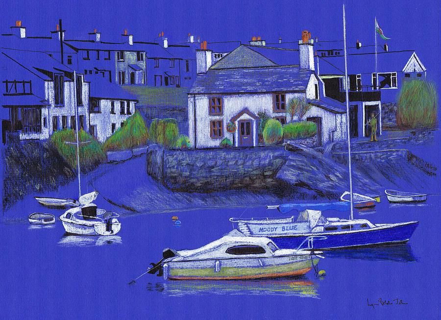 900x653 Quiet Harbour Drawing By Lynn Blake John