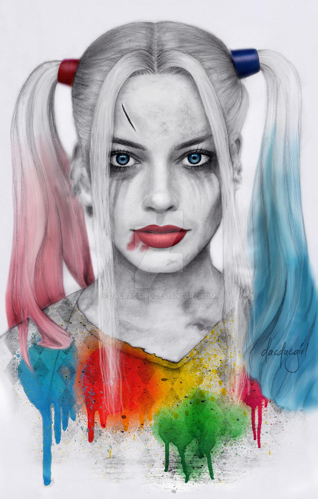 Harley Quinn Face Drawing At Getdrawings