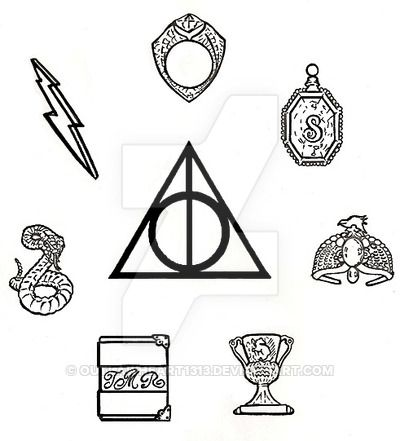 Harry Potter Deathly Hallows Symbol Drawing At Getdrawings