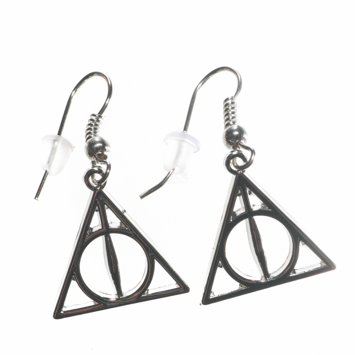 1200x1200 Harry Potter Deathly Hallows Symbol Charm Silver Plated Earrings