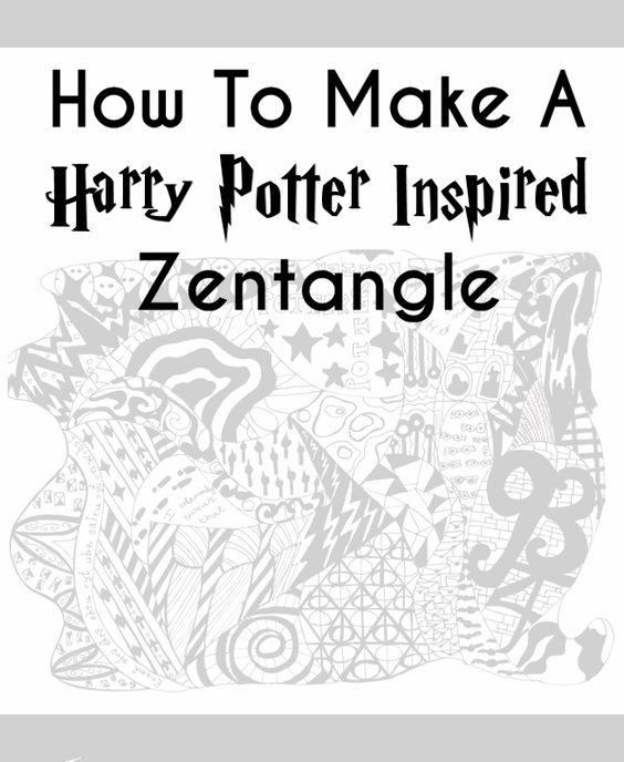 564x688 Potter Talk Diy Harry Potter Zentangle