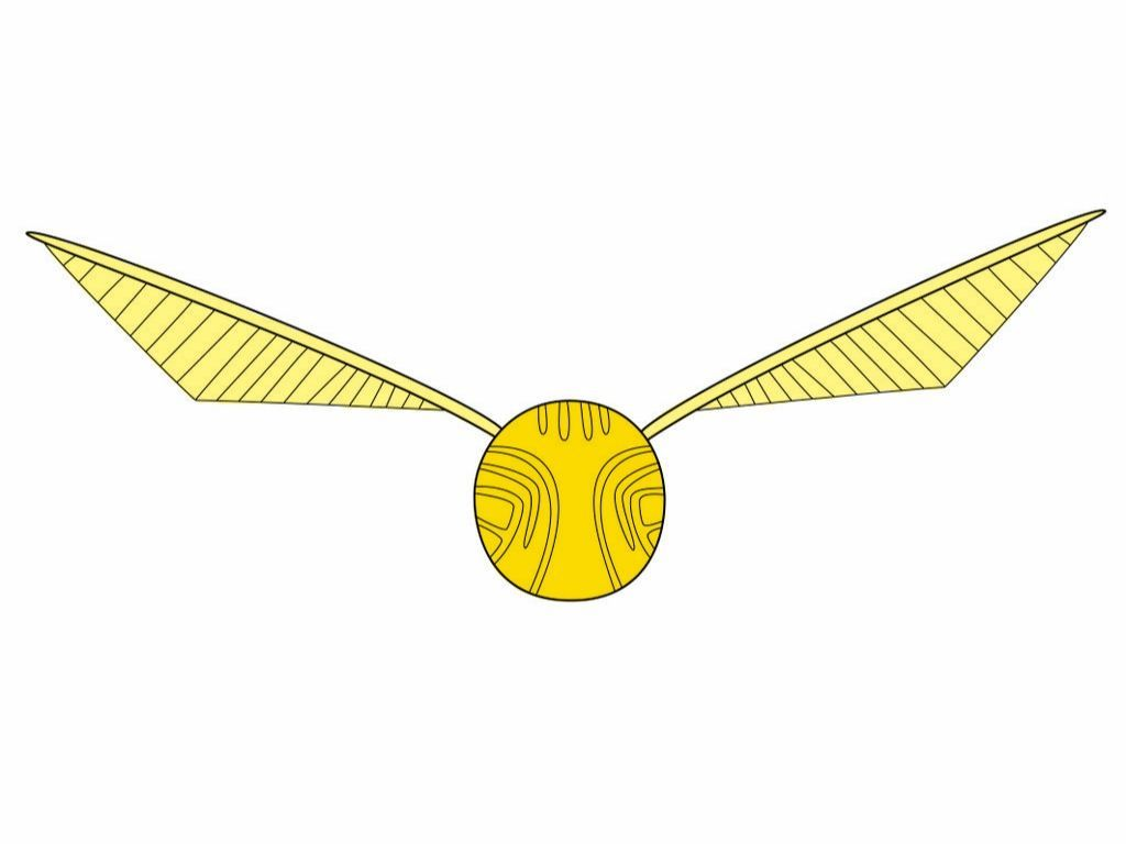 picture regarding Golden Snitch Wings Printable identified as Harry Potter Golden Snitch Drawing at Cost-free