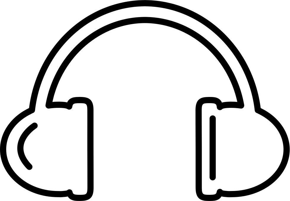 981x682 Headphones Outline Svg Png Icon Free Download ( 17228