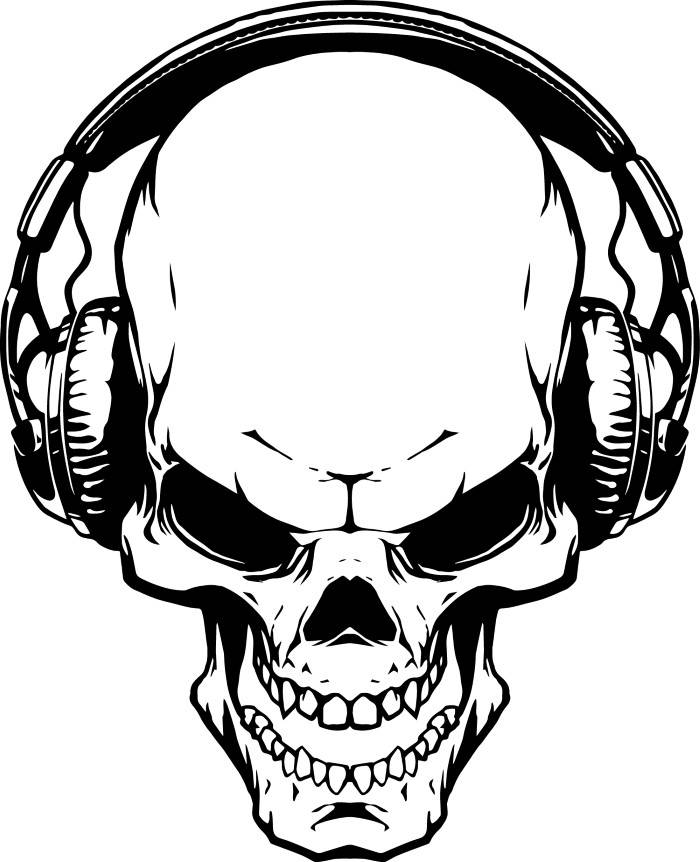 700x862 Skull Headphones