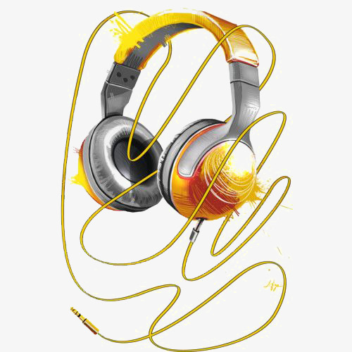 500x500 Drawing Headphones, Creative Headset, Vitality, Hifi Headphones