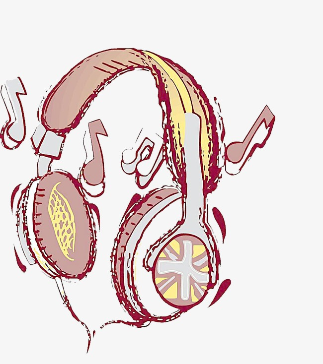 650x734 Music Headphones, Note, Hand Painted, Headset Png Image