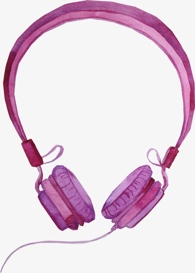 650x912 Purple Headphones, Headset, Drawing Headphones, Electronic