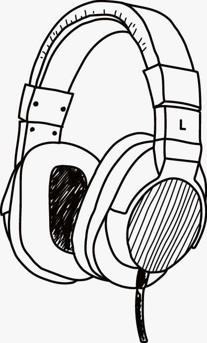 417x689 Hand Drawn Vector Headphones, Vector, Hand Painted, Headset Png