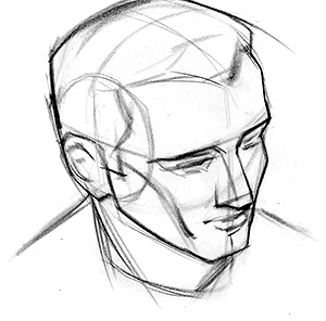 300x296 How To Draw The Head From Extreme Angles Proko