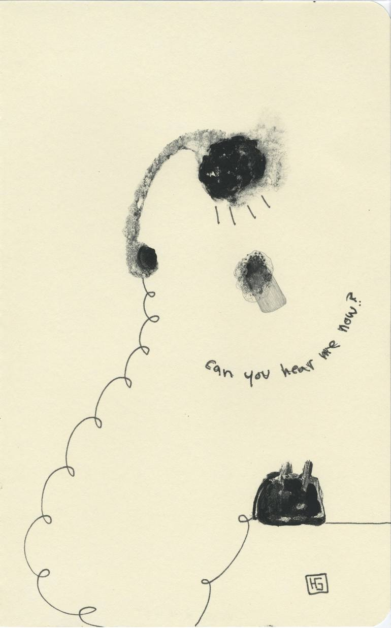 770x1237 Saatchi Art Can You Hear Me Now, Book 3