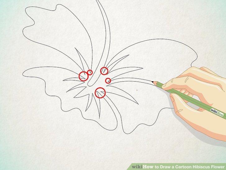 728x546 2 Easy Ways To Draw A Cartoon Hibiscus Flower
