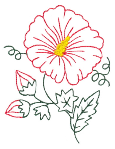 388x500 Photos Outline Of Hibiscus Flower,