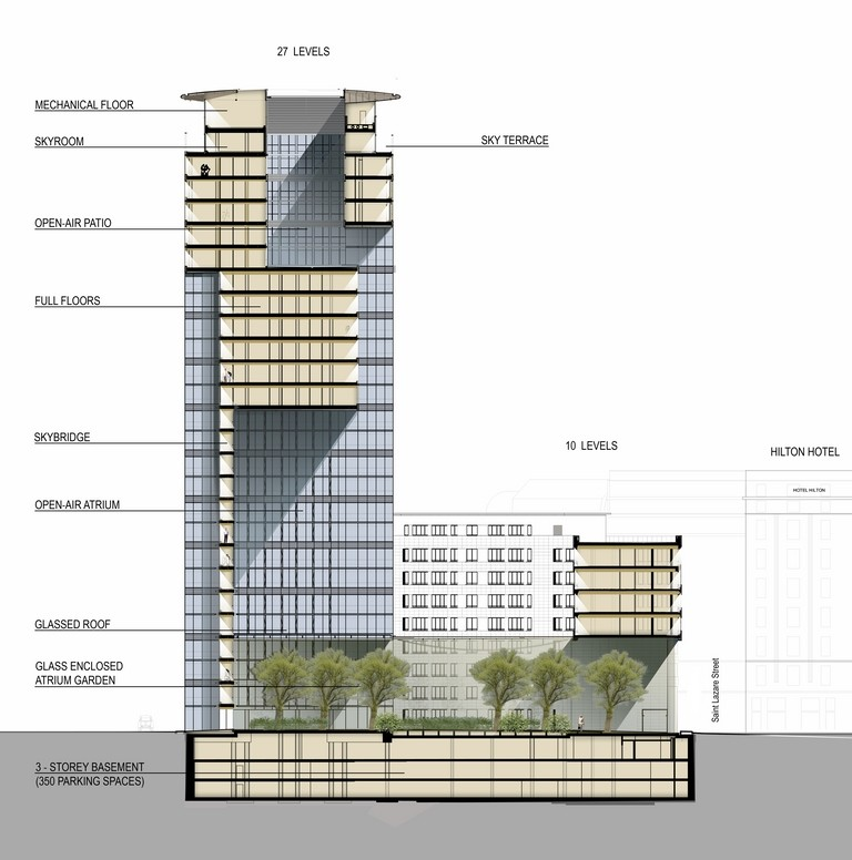 768x776 Collection Of High Rise Building Drawing High Quality, Free