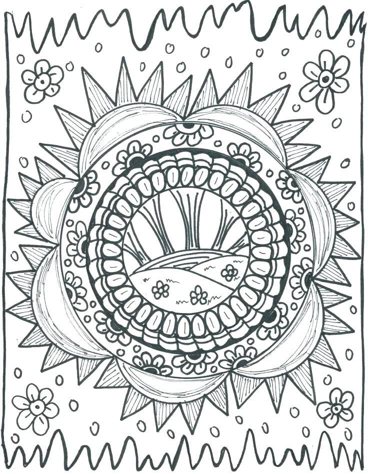 Hippie Sun Drawing At Getdrawingscom Free For Personal Use Hippie - Hippie-coloring-pages