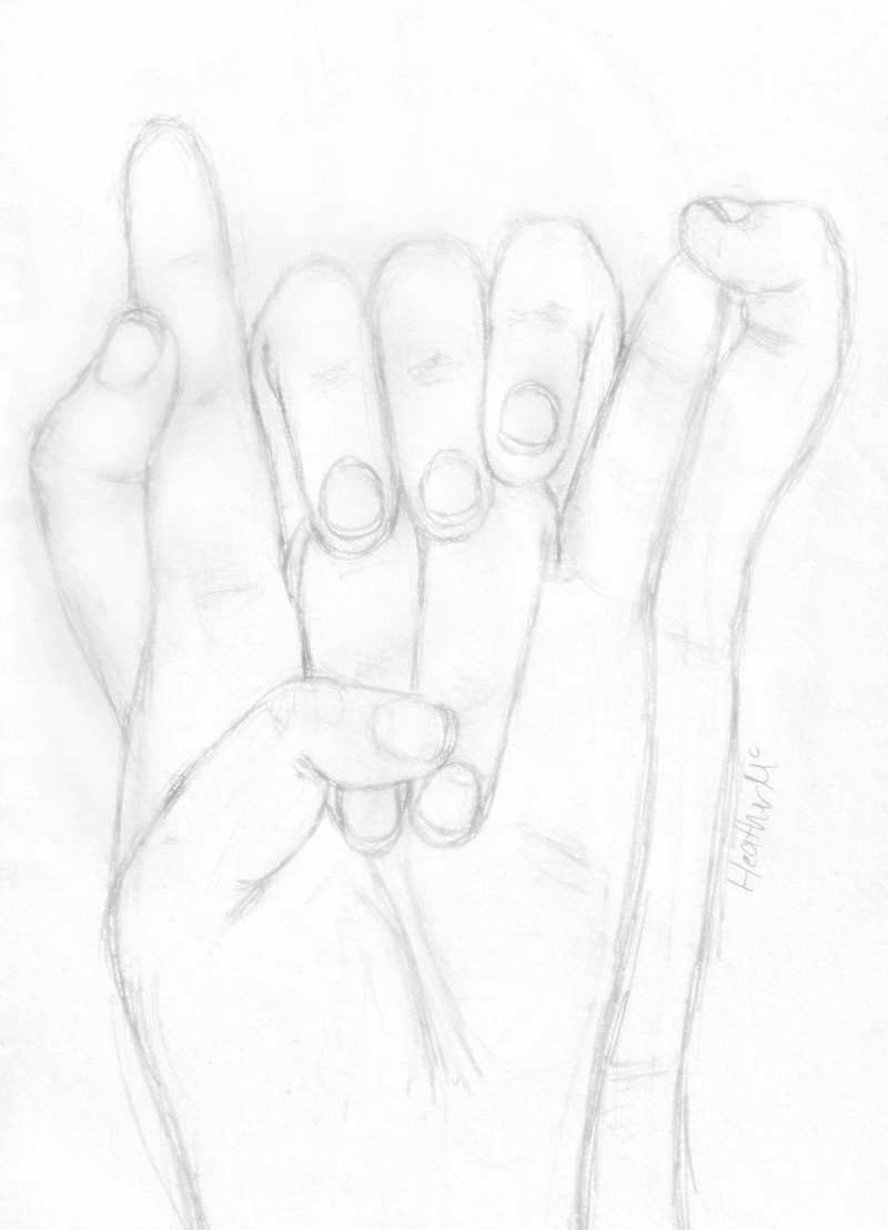 800x1108 Holding Hands Sketch By Mistress102