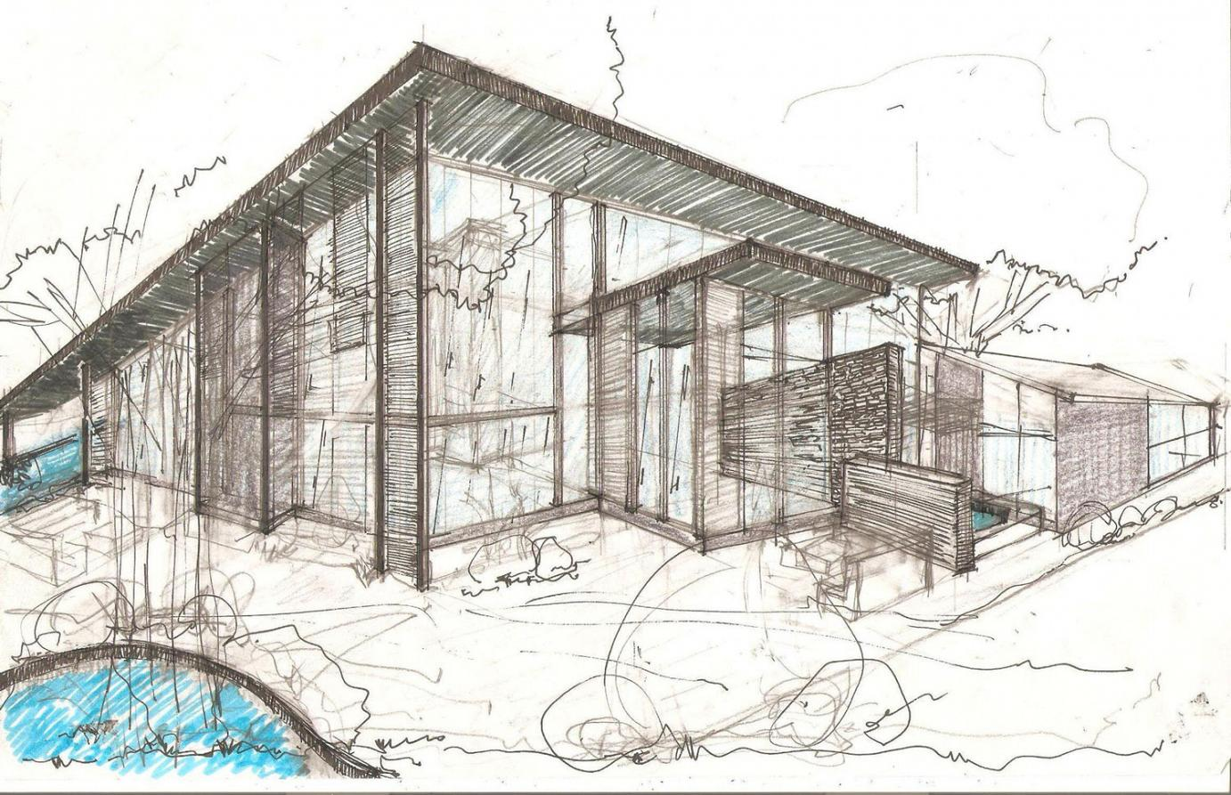 1382x893 Amazing Architecture Design House Drawing Sketch