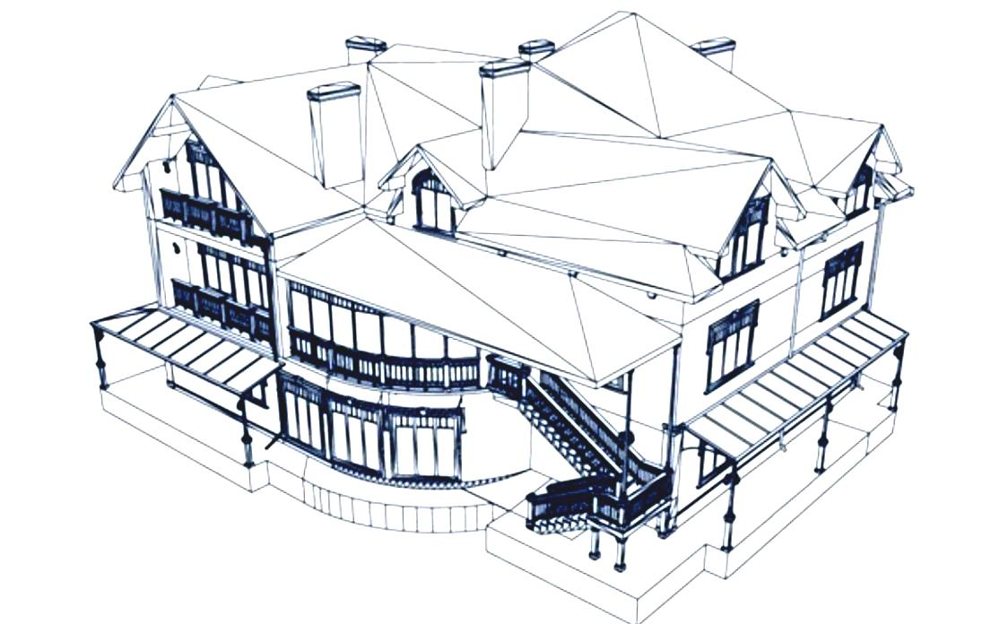 1124x696 Excellent How To Draw A 3d House Architecture House Sketch Best 25