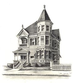 236x267 Victorian House By Gene Ploss On Etsy. Paintingdrawing Ideas