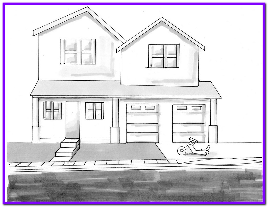 1046x809 House Sketch Drawing Design