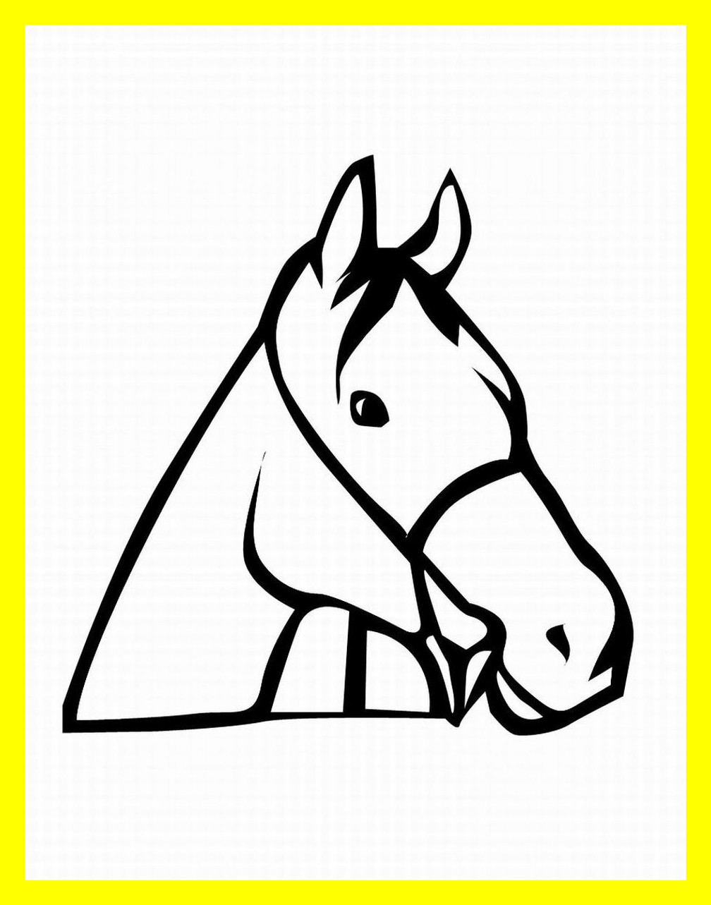 Horse Head Front View Drawing at GetDrawings.com | Free for personal ...