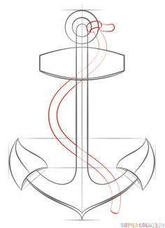 236x326 How To Draw An Anchor Random Drawings, Tutorials