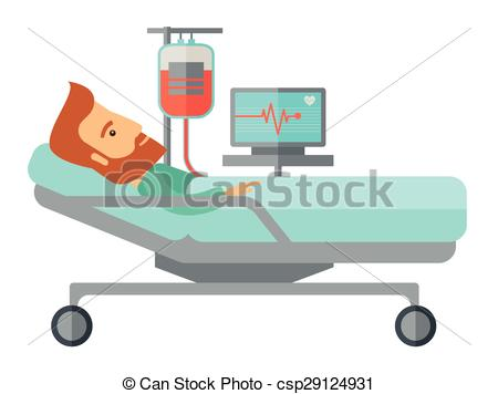 450x356 Collection Of Patient In Bed Drawing High Quality, Free