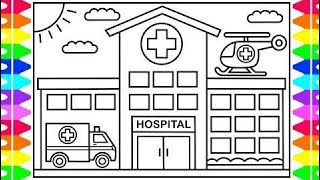320x180 How To Draw A Hospital Easy