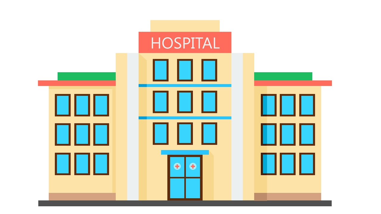 1280x720 How To Draw Building Flat Design Hospital