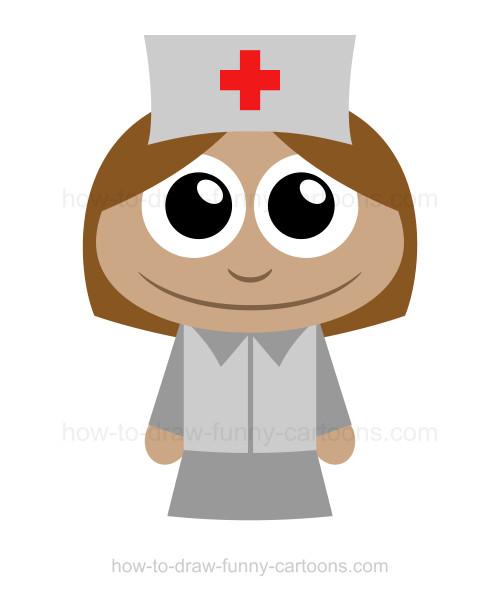 500x596 How To Draw A Nurse