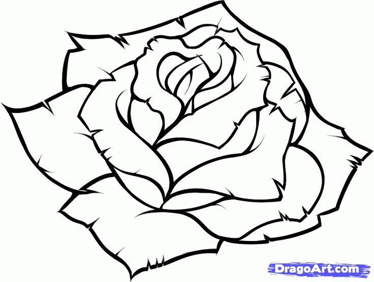 736x556 Gallery Easy Drawings Of Roses,