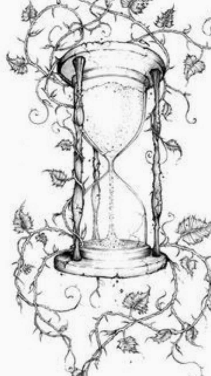 Hourglass Clock Drawing