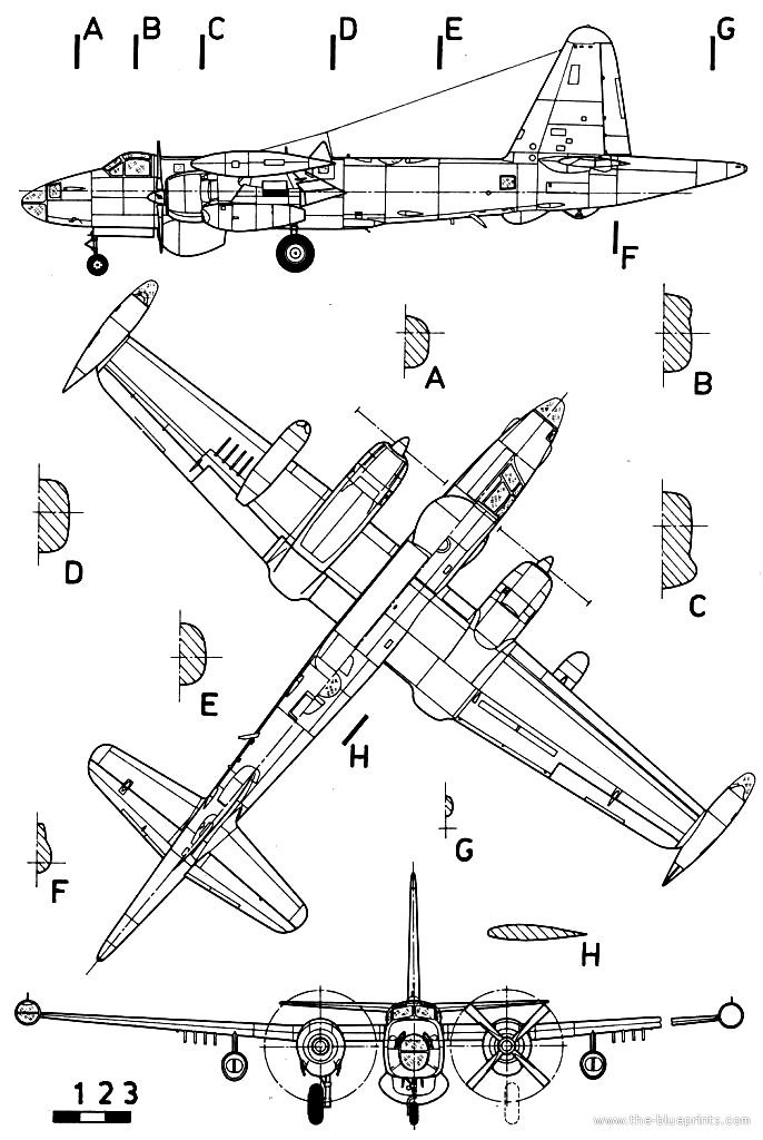 686x1024 Best Aircraft 3 View Scale Drawings Images