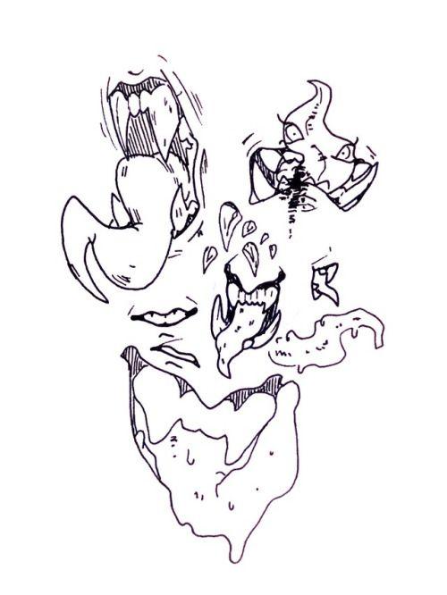 Human Teeth Drawing