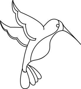 275x300 Hummingbird Clipart Image Clip Art Illustration An Outline