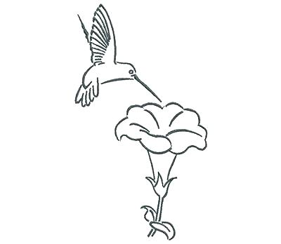 400x348 Hummingbird To Color John Ultimate Stash Adorable Ideas Embroidery