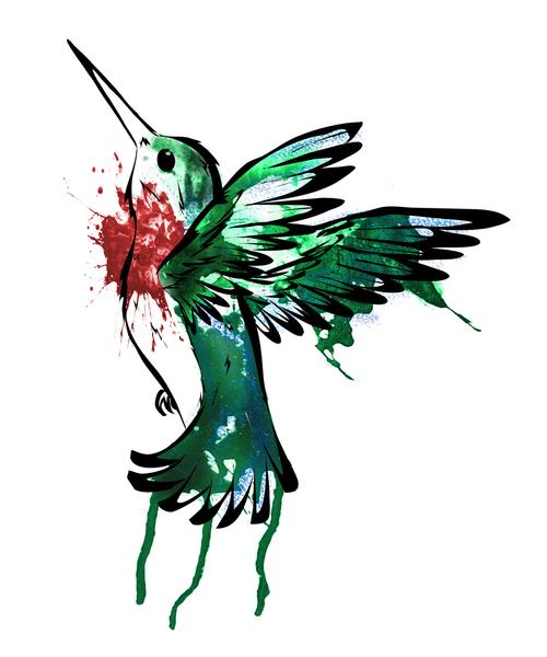 500x600 Hummingbird Drawing Shared By Hug N Dance On We Heart It