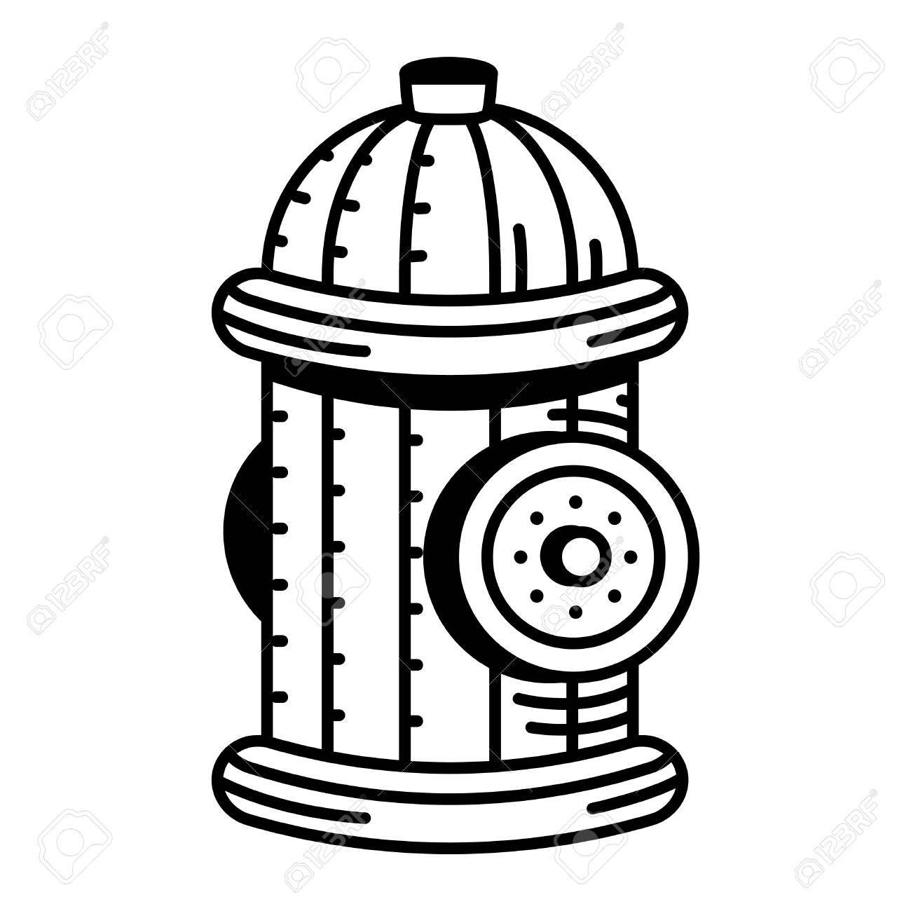 1300x1300 Fire Hydrant Drawing 32 Noticeable Clipart Black And White