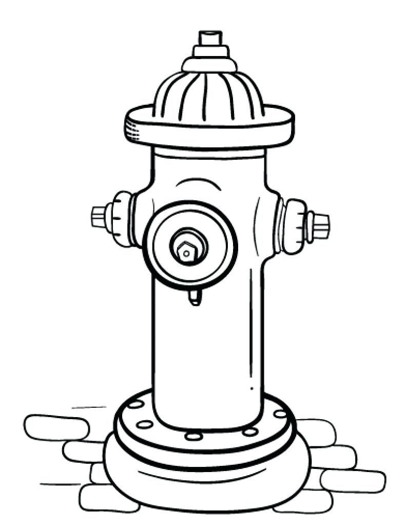 791x1024 Fire Hydrant Drawing At Getdrawings Com Free For Personal Use Best