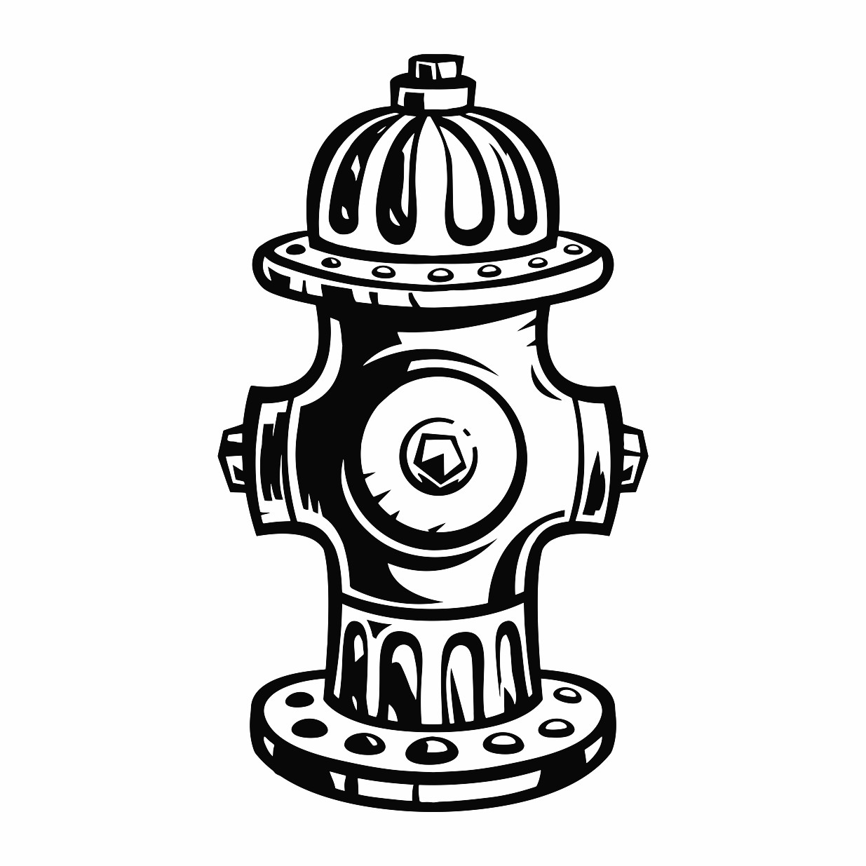 1235x1235 Fire Hydrant Printable Image Illustration Sketch For Fire Hydrant