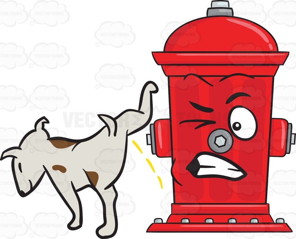 1024x826 Dog Pissing On A Disgruntled And Startled Fire Hydrant Emoji