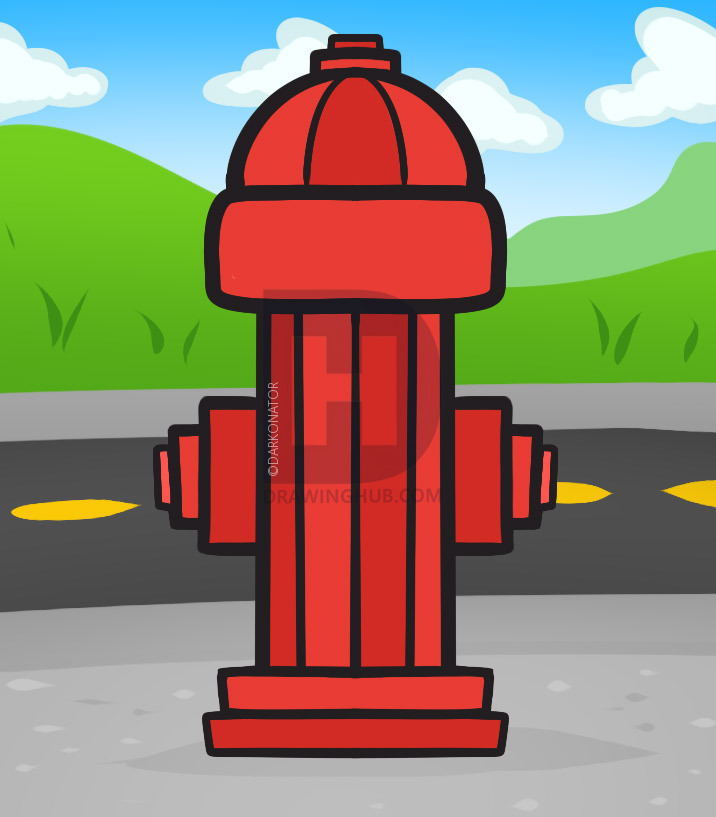 716x817 How To Draw A Fire Hydrant, Fire Hydrant, Step By Step, Drawing