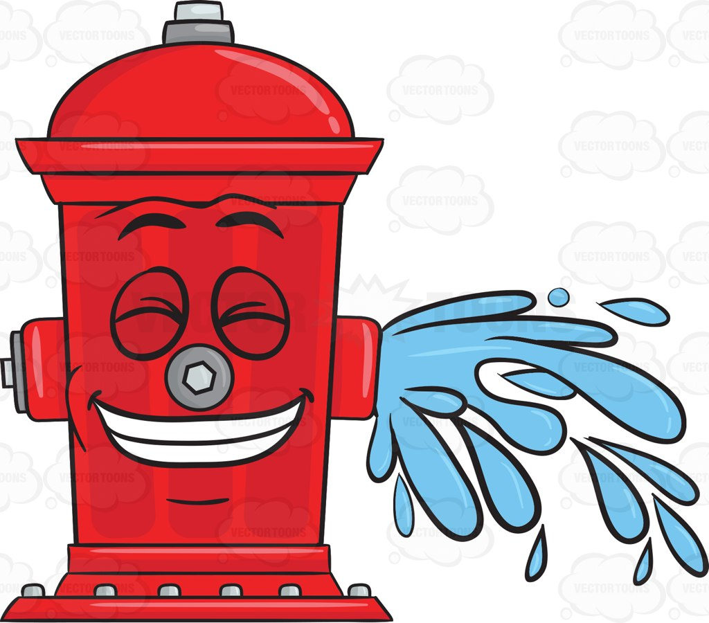 1024x900 Hydrant Drawing With Water