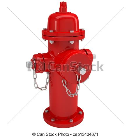 450x470 Red Fire Hydrant. Isolated Render On A White Background Stock