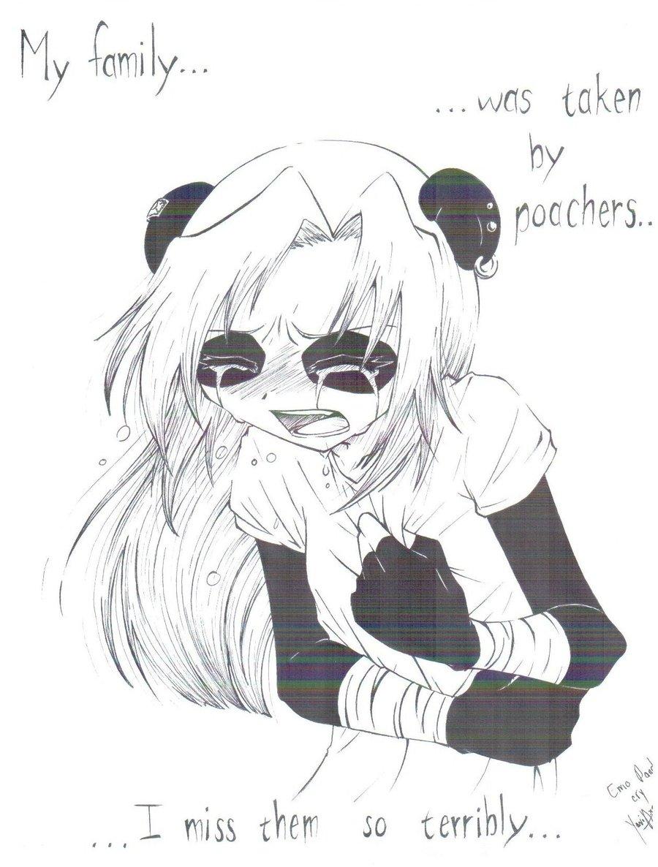 900x1186 Emo Panda Cry By Ya Chan777