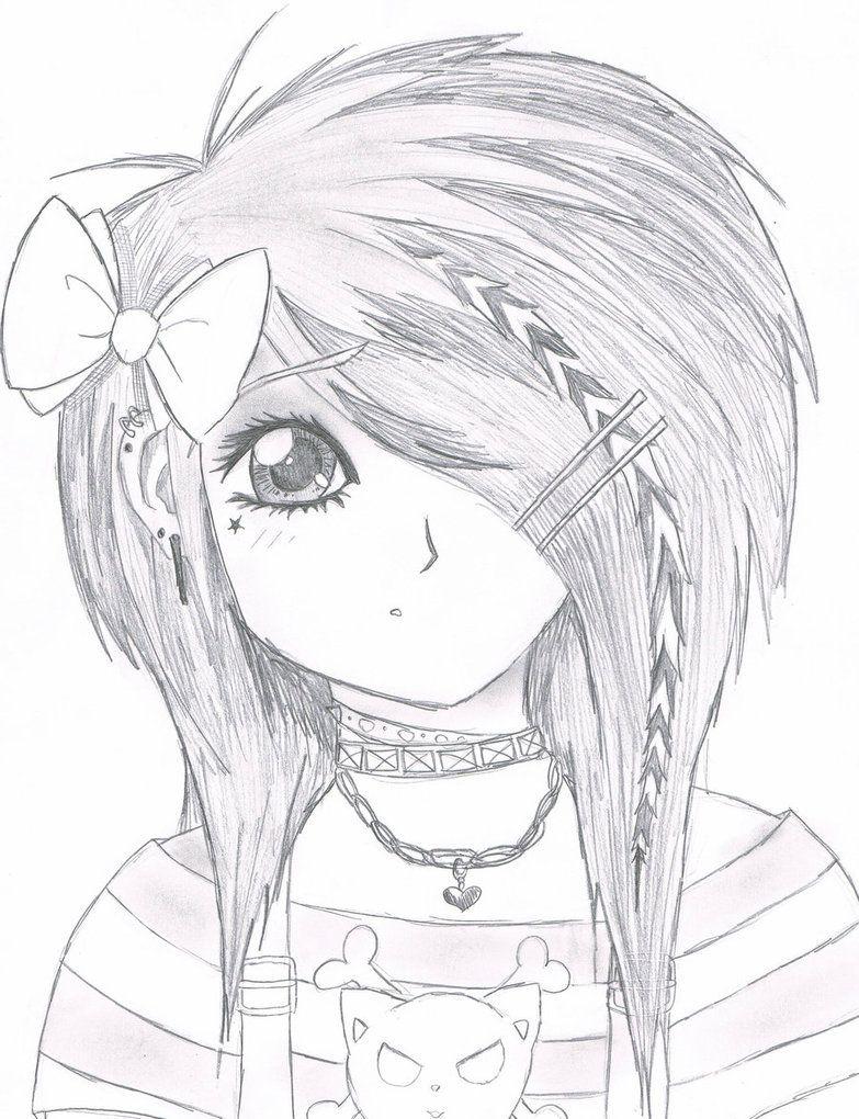 783x1020 Emo Drawings Emo Scene Gurl By ~kattify7764 On Emo