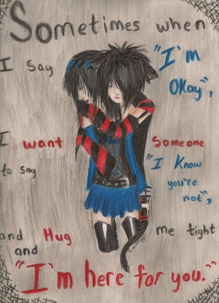 736x1018 Best Emo Drawings Images On Drawings, To Draw