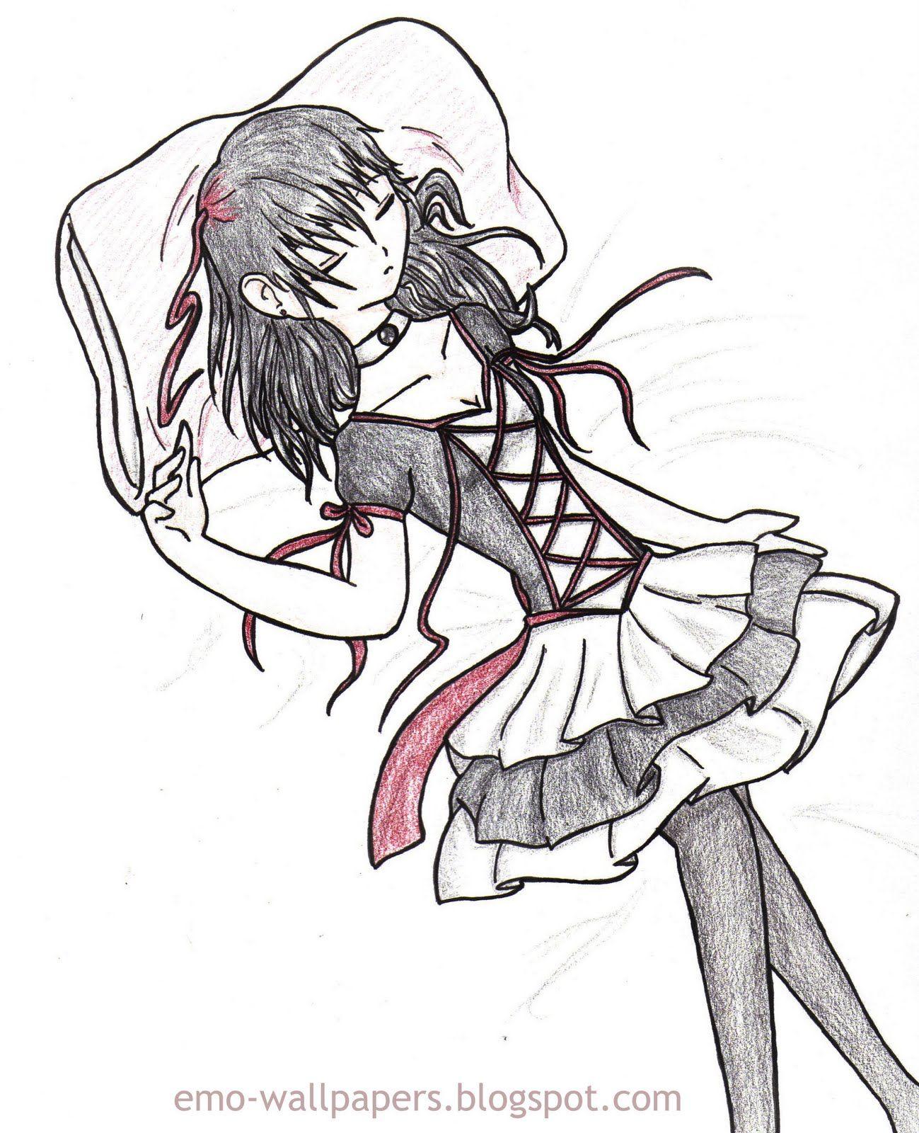 1299x1600 Cute Love Drawings Emo Drawing Of Emo Girls Animemanga Art