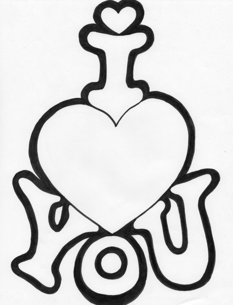 782x1024 I Love You Drawings Drawing Sketch Library Coloring Pages