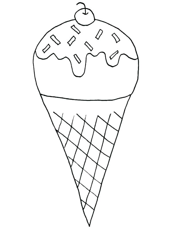 600x800 Ice Cream Cone Coloring Pages To Print Ice Cream Cone Coloring