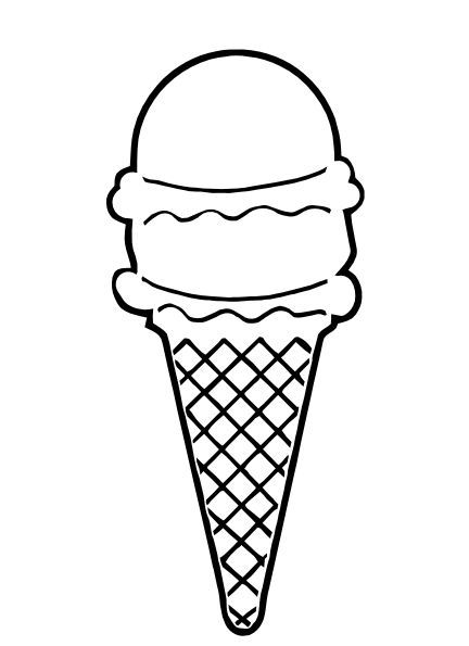 432x595 Different Types Of Ice Cream Cones Outlines